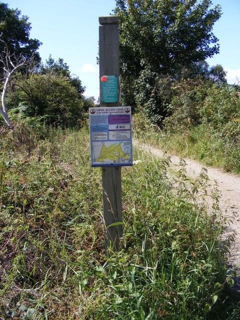 Bridleway sign & Open Access Map