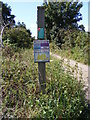 TM4974 : Bridleway sign & Open Access Map by Adrian Cable