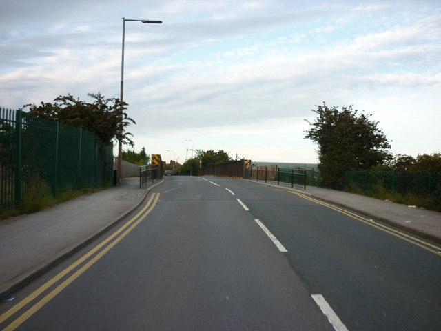 The top of Southcoates Lane hill
