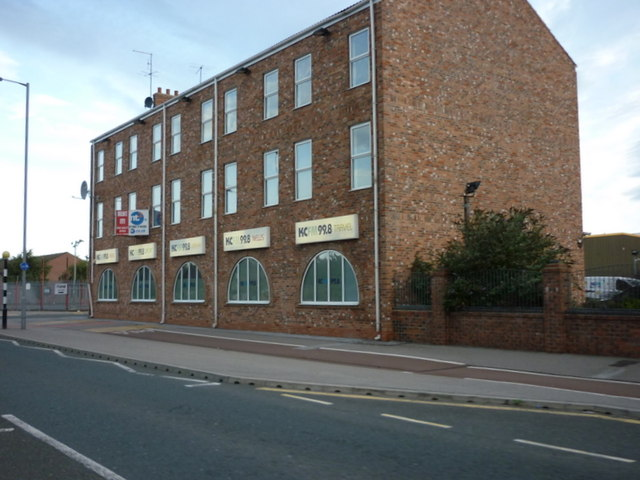 The KC FM 99.8 radio station on Hedon Road, Hull