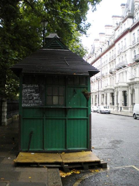 Taxi drivers' cafe, Grosvenor Gardens SW1