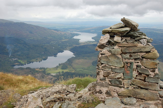 Looking east from the trig point, Ben Venue