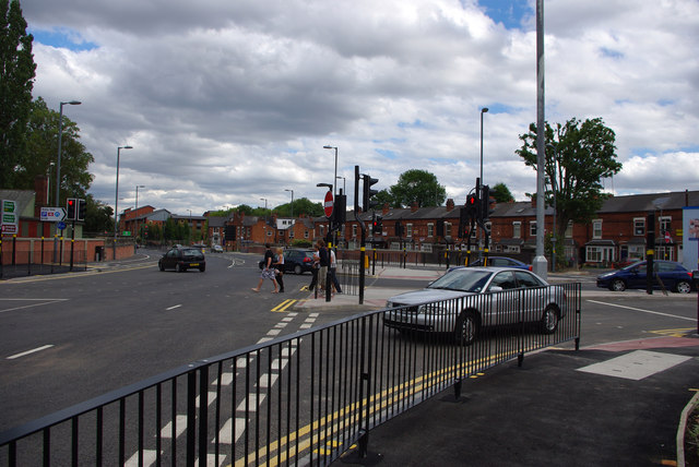Junction of Selly Oak New Road Phase 2 (Aston Webb Boulevard) and Bristol Road, Bournbrook