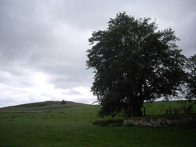 Maiden Hillock, behind Essie cemetery
