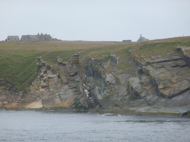 Stroma: cliffs and deserted village