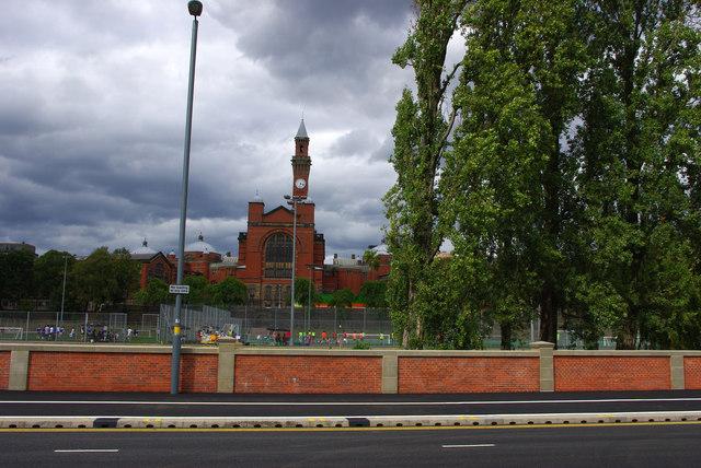 Sports pitches at Birmingham University