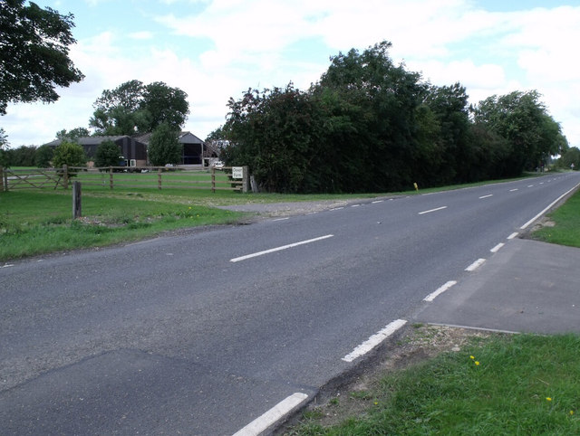B1192 and Clover Farm, near Langrick