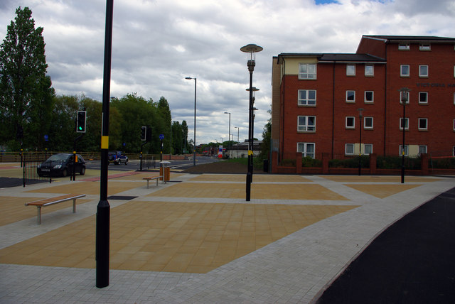 The 'piazza' between Grange Road and Selly Oak New Road