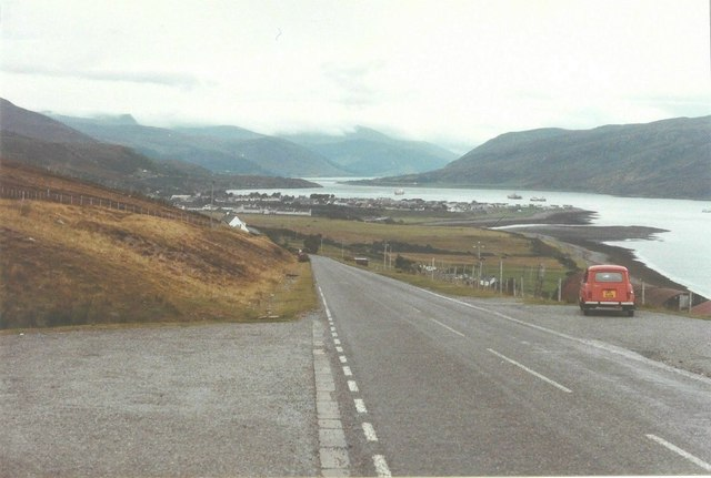 Lay-by beside the A835 to Ullapool in 1984