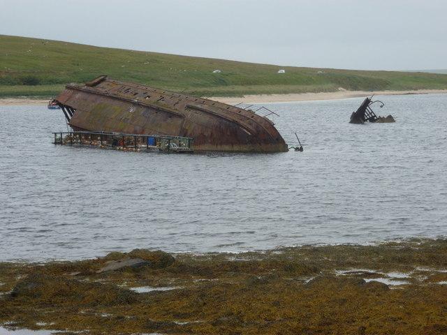 Burray: blockship in Weddell Sound