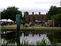 TM0061 : Haughley Park house and lake by John Goldsmith