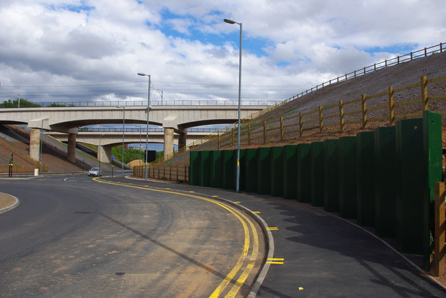 Shared use path at Queen Elizabeth Island roundabout, Selly Oak New Road