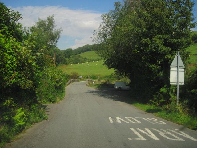 Approaching Afon Dulas bridge