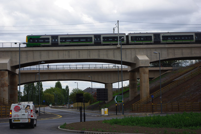 Railway bridge and canal aqueduct over Aston Webb Boulevard (Selly Oak New Road , Phase 2)