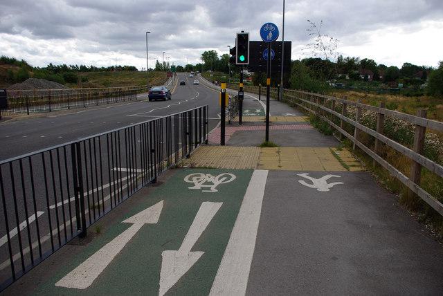 Shared use cycle path alongside Aston Webb Boulevard (Selly Oak New Road, Phase 1)