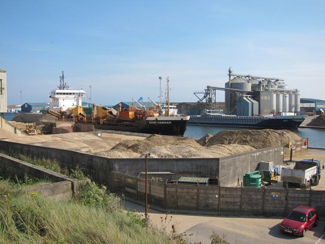 Sand piles by Fisherman's Wharf