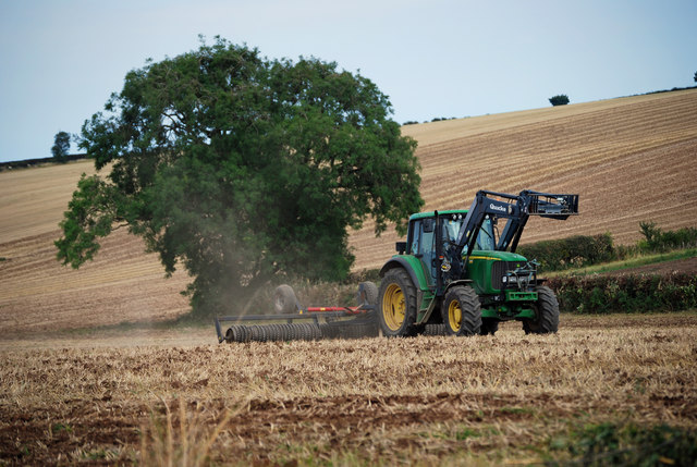 Cultivating near West Wold Farm