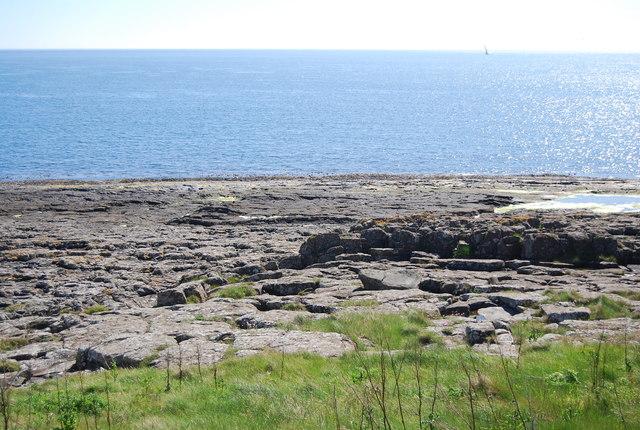 Flat rocks near Dunstanburgh Castle