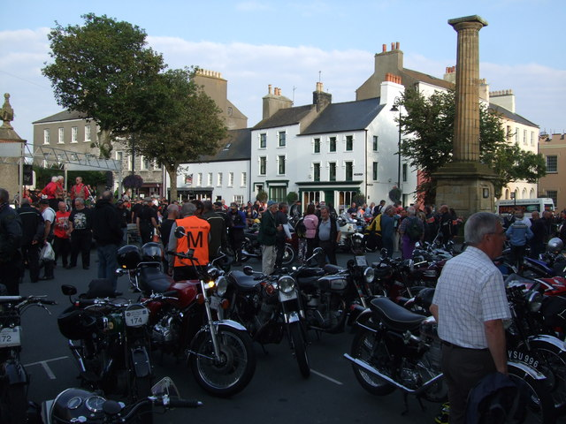Bikes and bikers in Castletown