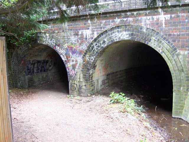 Footpath and river under the Chiltern Main Line
