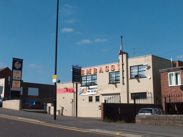 """Embassy"" club and ""Foxwood Inn"", Mansfield Road, Sheffield"