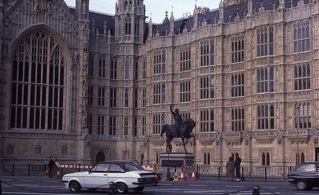 Richard I statue outside the Houses of Parliament