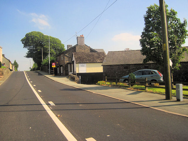 A458 past Foel post office