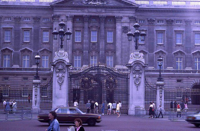 The gates of Buckingham Palace