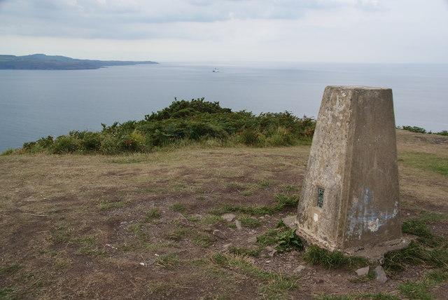 Trig point on Dinas Head