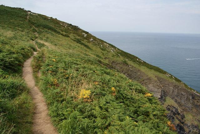 Coast path above Pwll Glas