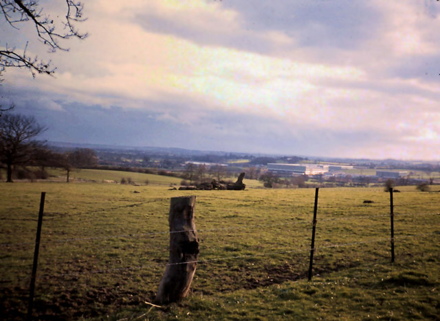 JCB factory from a distance, 1970
