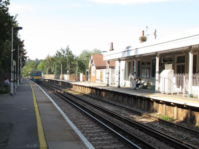 Woldingham Station: passing Turbostar