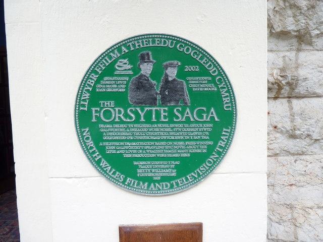 The Forsyte Saga (2002) plaque at the Grand Hotel, Llandudno