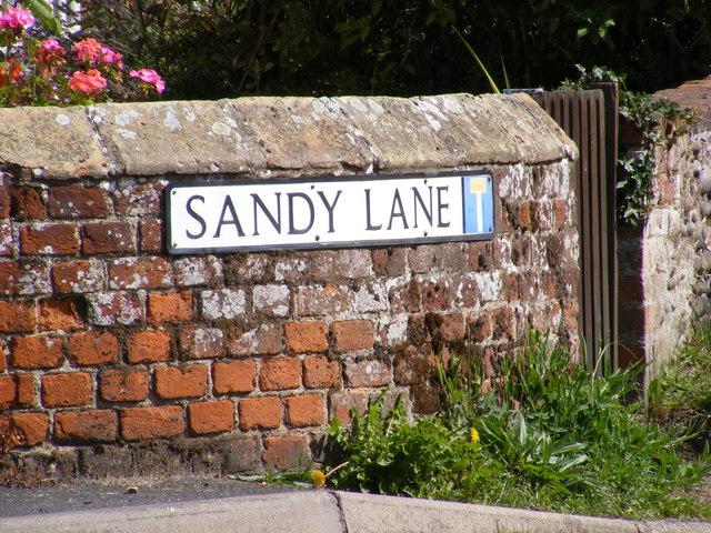 Sandy Lane sign