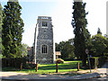 TQ3656 : St Paul's church, Woldingham: tower  by Stephen Craven