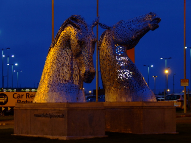 The Kelpies at Edinburgh Airport
