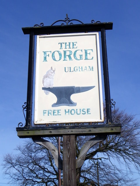 Sign for the Forge Inn