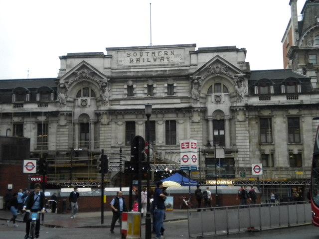 Suburban entrance, London Victoria Station, Victoria Street SW1