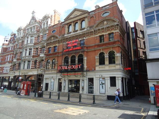 The Royal Court theatre, Sloane Square