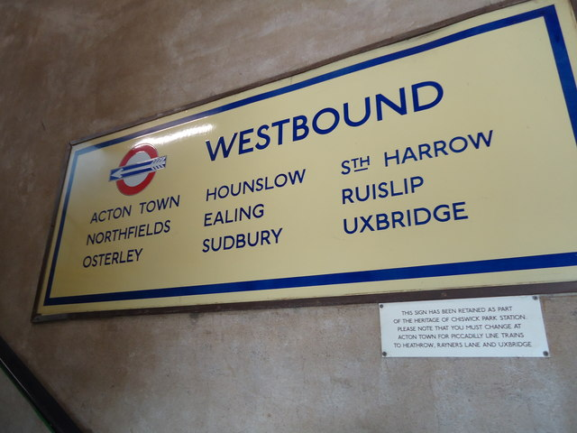 Direction sign, Chiswick Park underground station
