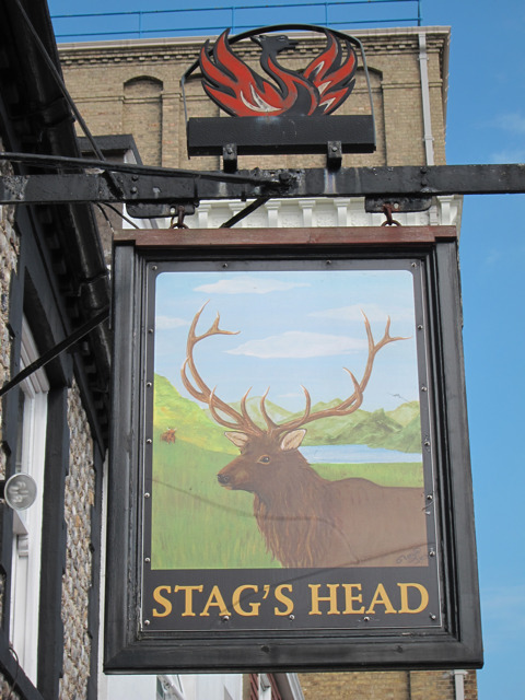 Stags Head sign