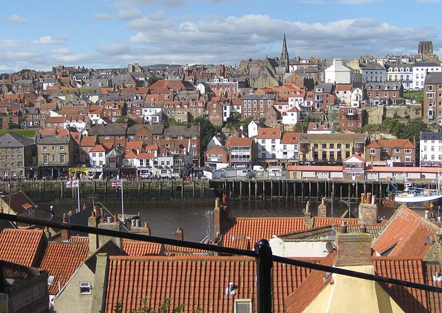 View to the west bank of the Esk, Whitby