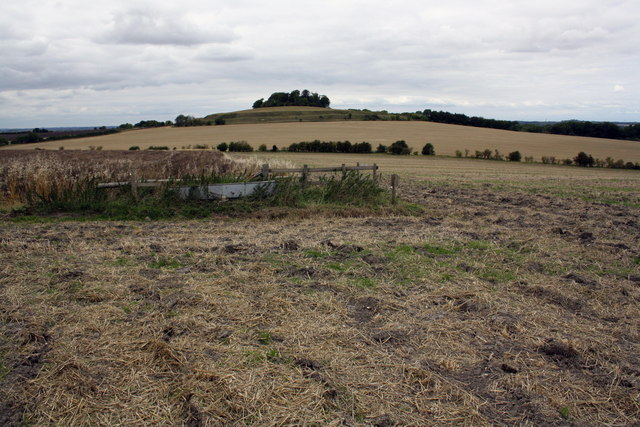 Ploughed field and water trough