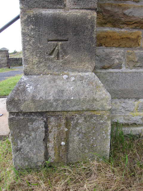 A preserved bench mark on St James' church, Dalehead