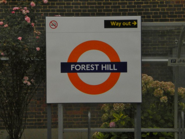 Sign, Forest Hill Railway Station