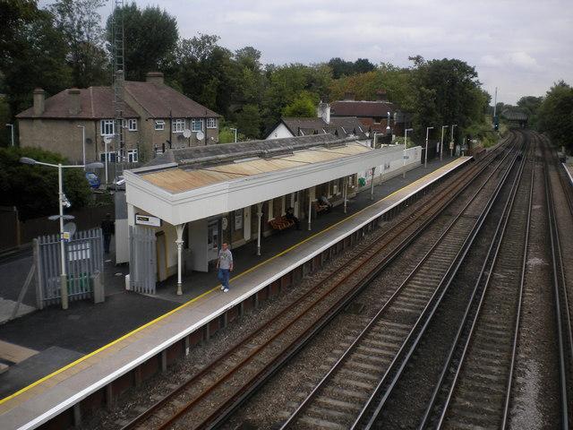 Northbound platform, Penge West Railway Station SE20
