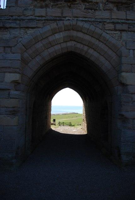 View through the gate, Dunstanburgh Castle