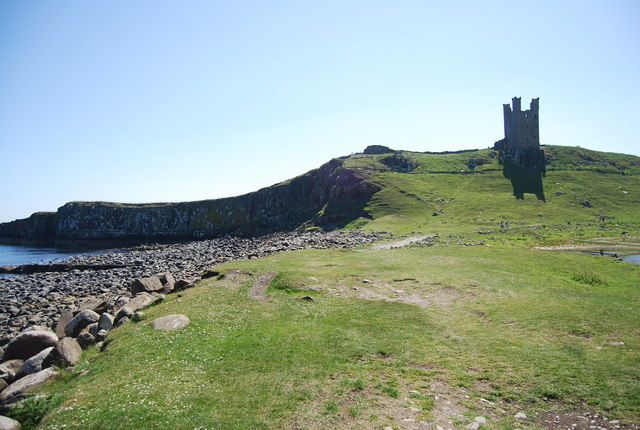 Dunstanburgh Castle from the north