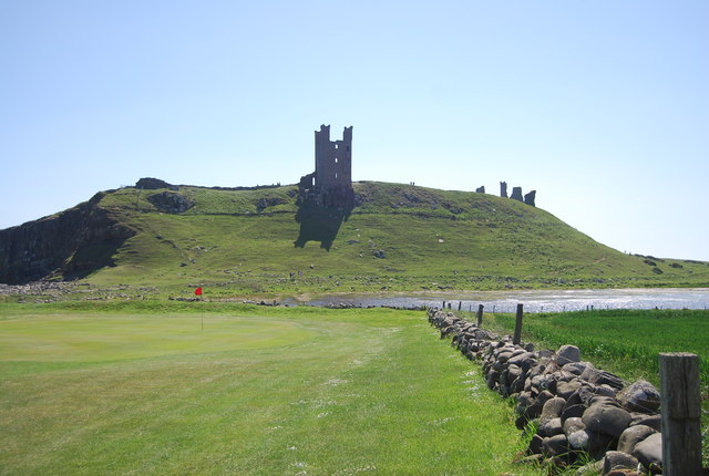 Golf course below the castle