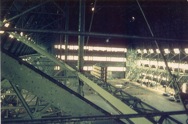 Airship Hangar No. 2 - Interior in 1970